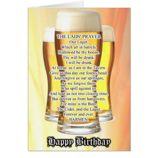 Lad's Prayer Birthday Card