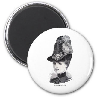 """""""Lady"""" 2 Inch Round Magnet"""