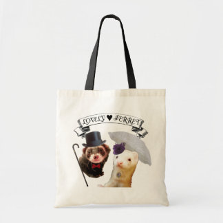 """Lady and Gentleman"" ferret Tote Bag"