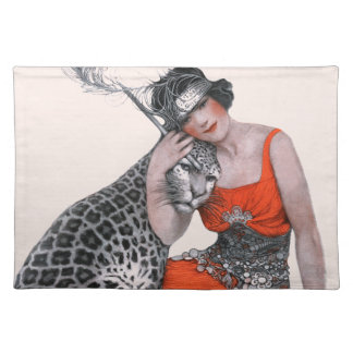 Lady and Leopard Place Mat