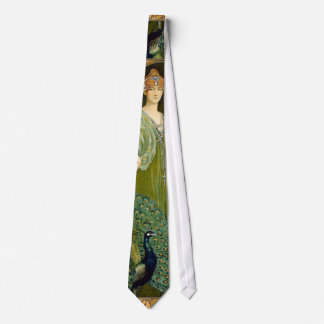 Lady and Peacock Tie
