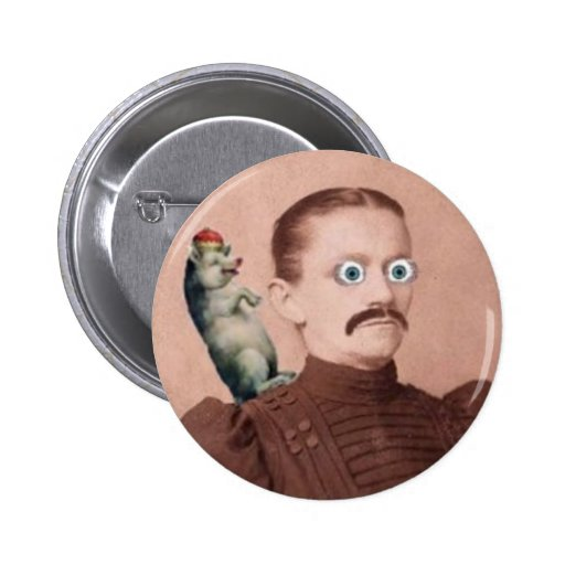 Lady and Pig Button