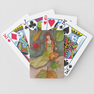 Lady and The Fox Bicycle Playing Cards