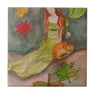 Lady and The Fox Tile