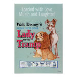 Lady and the Tramp Blue Poster