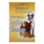 Lady and the tramp yellow poster
