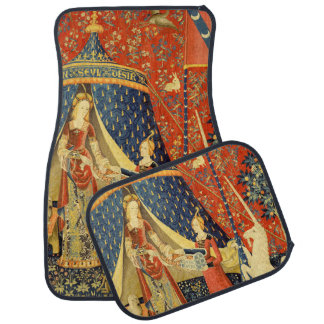 Lady and the Unicorn Medieval Tapestry Art Car Mat