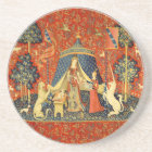 Lady and the Unicorn Medieval Tapestry Art Coaster