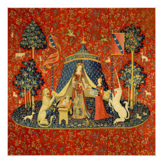 Lady and the Unicorn Medieval Tapestry Art Perfect Poster