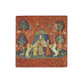 Lady and the Unicorn Medieval Tapestry Art Stone Magnets