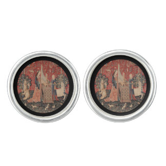 Lady and the Unicorn Music Cufflinks