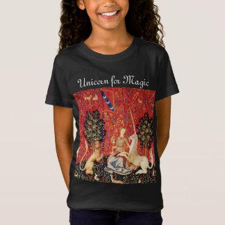 LADY AND UNICORN FOR MAGIC Fantasy Flowers,Animals T-Shirt