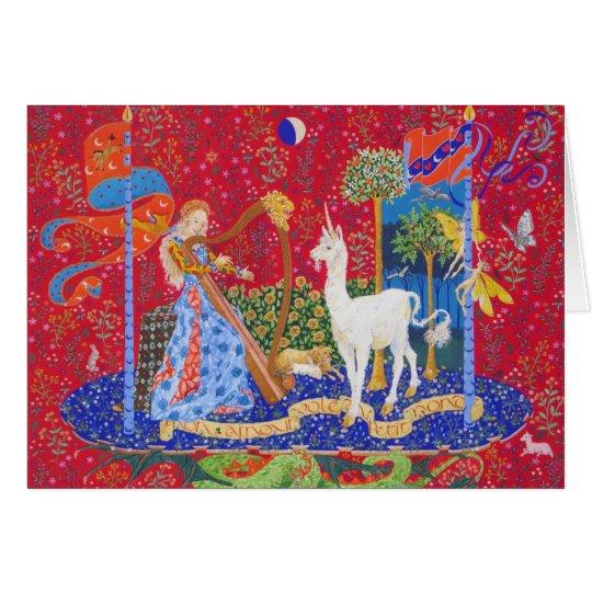 Lady and Unicorn    -II- Card