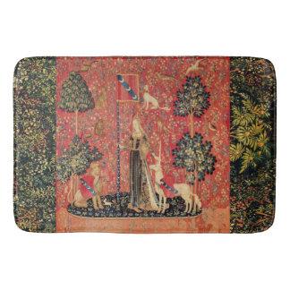 LADY AND UNICORN Lion,Fantasy Flowers,Animals Bathroom Mat
