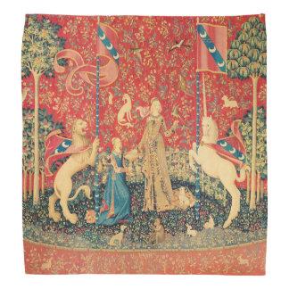 LADY AND UNICORN Lion,Fantasy Flowers,Animals Head Kerchiefs