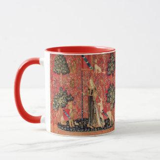 LADY AND UNICORN Lion,Fantasy Flowers,Animals Mug