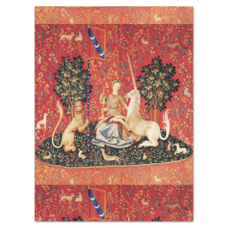 LADY AND UNICORN Lion,Fantasy Flowers,Animals Tissue Paper
