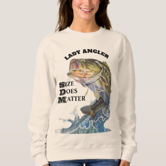 LADY ANGLER / SIZE DOES MATTER SWEATSHIRT