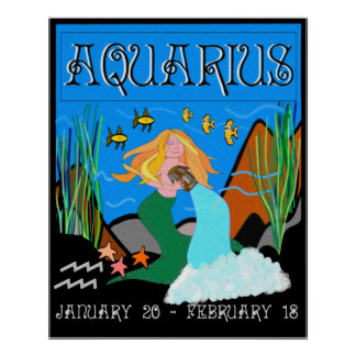 LADY AQUARIUS - FOAMY SEAS POSTER