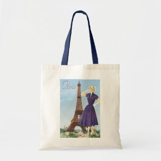 Lady at the Eiffel Tower Tote Bag