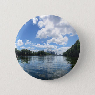 Lady Bird Lake Panorama - Austin - Texas 2 Inch Round Button