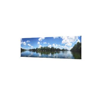 Lady Bird Lake Panorama - Austin - Texas Canvas Print