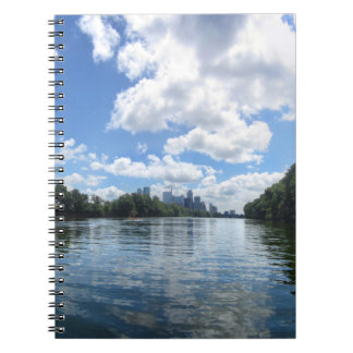 Lady Bird Lake Panorama - Austin - Texas Notebook