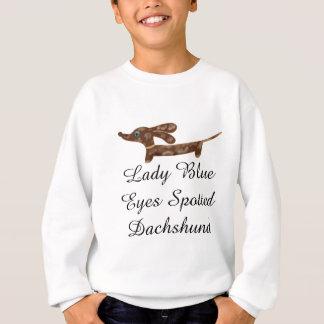 Lady Blue Eyes Dachshund Kids Sweatshirt