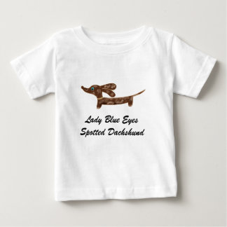Lady Blue Eyes Spotted Dachshund T-shirts