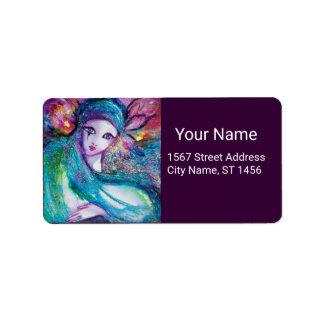 LADY BLUE MASK Venetian Masquerade Party Purple Label