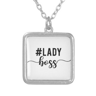 lady boss silver plated necklace