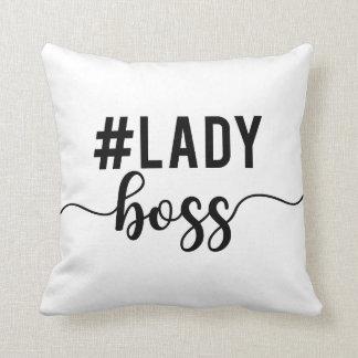 lady boss throw pillow