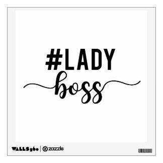 lady boss wall sticker