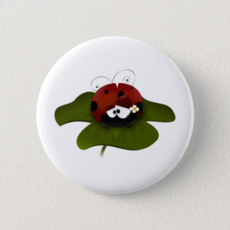 Lady Bug 2 Inch Round Button