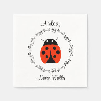 Lady Bug - A Lady Never Tells Paper Napkins