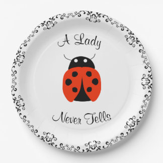 Lady Bug- A Lady Never Tells Personalized 9 Inch Paper Plate