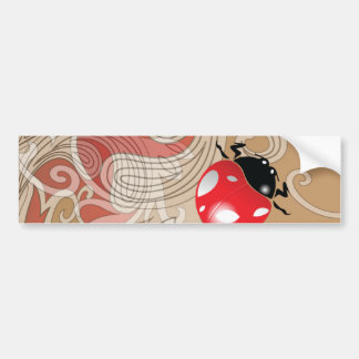 Lady Bug Art Bumper Sticker