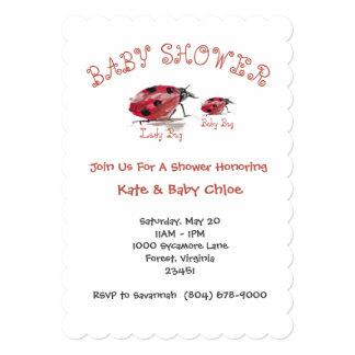 Lady Bug & Baby Bug Baby Shower Invitation