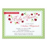 Lady Bug Baby Shower Invitation