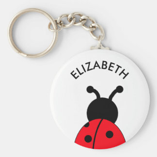 Lady Bug Custom Key Chain, Personalized With Name Keychain