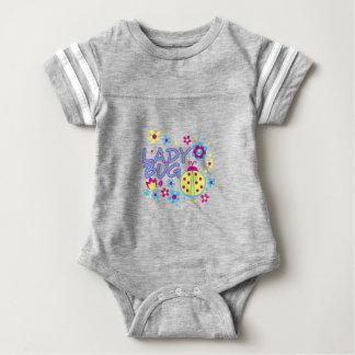 Lady bug design baby bodysuit