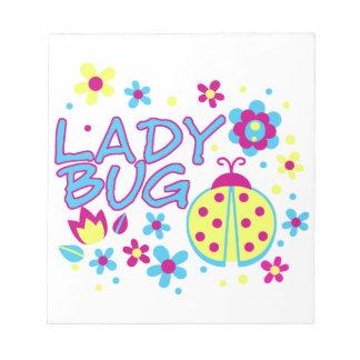 Lady bug design notepad