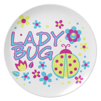 Lady bug design party plate