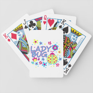 Lady bug design poker deck
