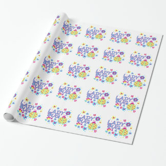 Lady bug design wrapping paper