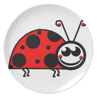 Lady Bug Dinner Plate