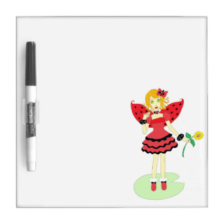 Lady Bug Fairy Dry Erase Board