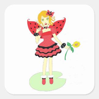 Lady Bug Fairy Stickers