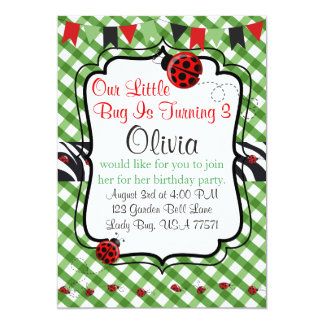 Lady Bug Garden Tea and Cakes Party Invitation