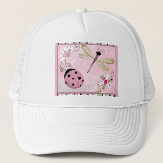 LADY BUG GIRL SOFT PINK TRUCKER HAT